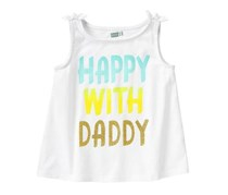Crazy 8 Baby Girl Happy With Daddy Tank, White