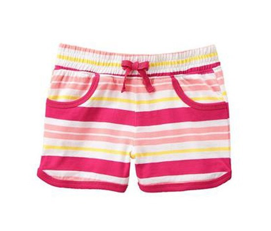 Cray 8 Gym Shorts, Raspberry Stripe