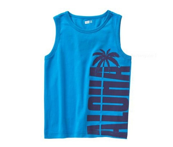 Boys Aloha Tank Top, True Blue