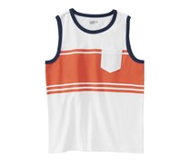 Crazy 8 Boys Stripe Tank Top, White