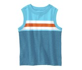 Crazy 8 Toddlers Striped Tank Top, Sea Blue