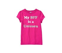 Crazy 8 Girls My BFF is a Unicorn Tee, Bright Pink