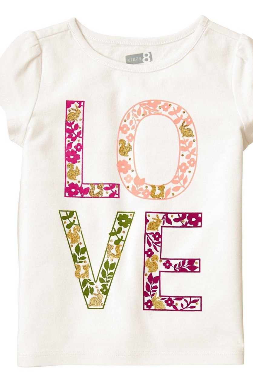 Little Girls Top, White