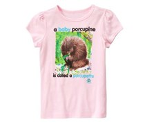 Crazy 8 Girls National Geographic Baby Porcupine Tee
