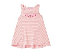 Gymboree Girl's  Sleeveless Stripe Top, Coral
