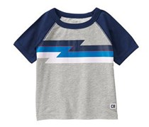 Crazy 8 Toddler Boys Zigzag Raglan Tee, Grey
