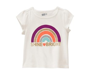 Crazy 8 Toddler Girl's Rainbow Tee, Ivory