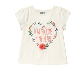 Crazy 8 Toddler Girl's Love Blooms Tee, Ivory