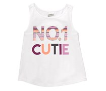 Crazy 8 Toddlers No.1 Cutie Top, White