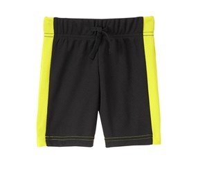 Crazy 8 Toddler Boy's Mesh Active Shorts, Black