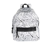 Sol and Selene Infinity Marble Backpack, White Combo