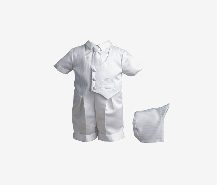 Baby Boy Christening Baptism Special Occasion Infant Satin