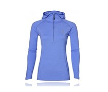 Asics Women's 1/2 Zip Long Sleeve Running Hoodie, Blue Purple Heather