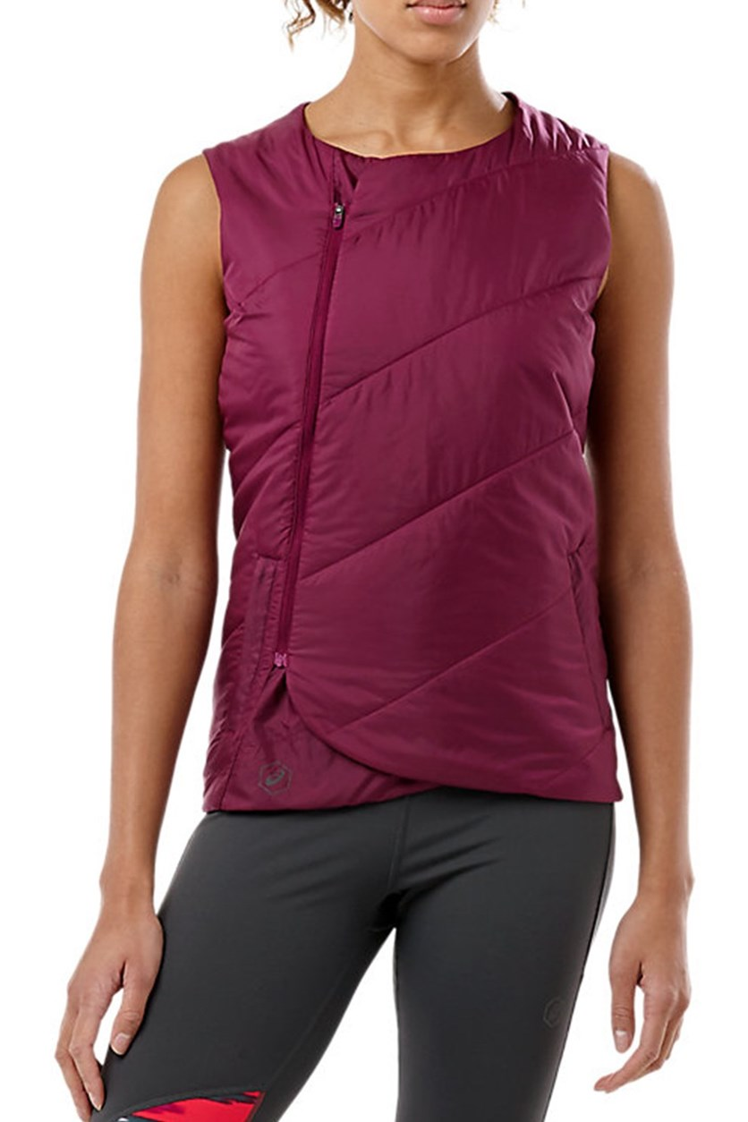 Women's Running Fuzex Padded Vest, Prune