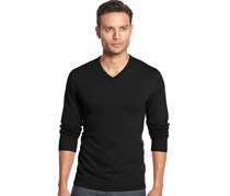 Alfani Men's  V-Neck Sweater, Black