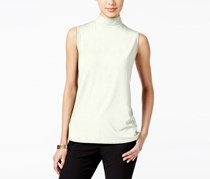 Charter Club Sleeveless Mock Turtleneck Top, Cloud
