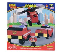 Best Lock Building Blocks Community Helpers Firefighter Helicopter, Red/Black