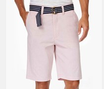 American Rag Belted Mcb Shorts, Sunset Red
