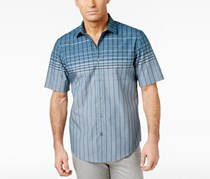 Alfani Men's Norwich Grid Cotton Shirt, Mallard