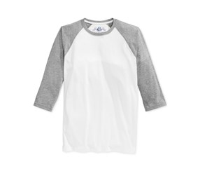 American Rag Men's Everyday Baseball T-Shirt, White/Grey