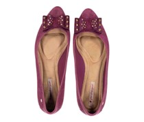 Grendha Women's Special Sapatilha Ad Flats Shoes, Flocked Purple