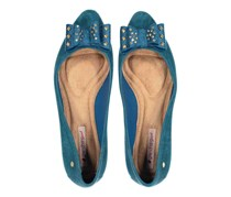 Grendha Women's Special Sapatilha Ad Flats, Flocked Blue
