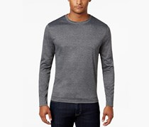 Alfani Men's Soft Touch Stretch Long-Sleeve T-Shirt, Heather Onyx