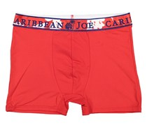 Caribbean Joe Printed Stretch Boxer Brief, Red