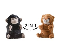 Wild Republic Switch A Rooz Gorilla/Lion Plush, Black/Brown