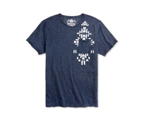American Rag Mens Aztec T-Shirt, Basic Navy