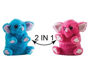 Switch A Rooz Elephant Peanut Butter and Jelly Plush, Pink/Blue