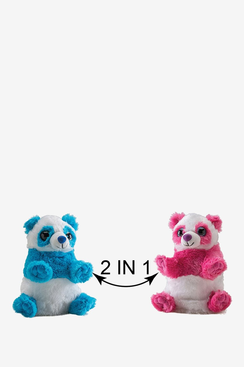 Switch A Rooz Panda Ying and Yang Plush, Pink/Blue