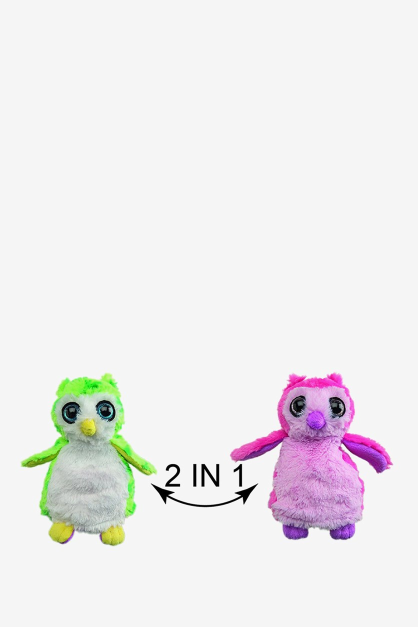 Switch A Rooz Owl Plush, Pink/Green