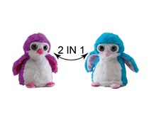 Wild Republic Switch A Rooz Penguin Plush, Pink/Blue