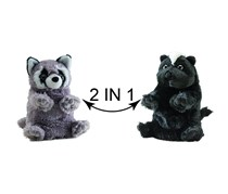 Switch A Rooz Racoon/Skunk Plush, Grey/Black