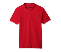 Southpole Men's Classic Short Sleeve Solid Polo Shirt, Red