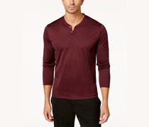Alfani Men's Stripe Henley, Port