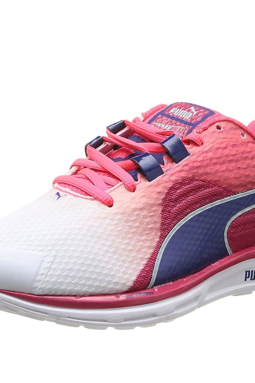 newest 315fe c0d34 Shop Puma Puma Faas 500 V4 Running Shoes,White/Pink for ...