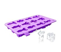 Vacu Vin Party People Ice Cube & Baking Tray, Purple