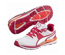 Puma Speed 600 Ignite Shoes, White/Red Rose/Silver