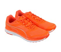 Puma Speed 500 Ignite Mesh Athletic Lace Up Running Shoes, Orange/Silver