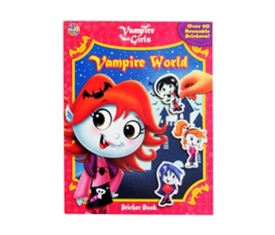 Vampire Girls Sticker Book, Pink