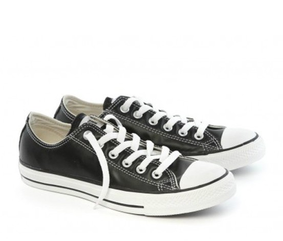 converse all ox leather black shoe 1q549 brands for