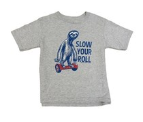 Jem Little Boys' Slow Your Roll Graphic T-Shirt, Heather Grey