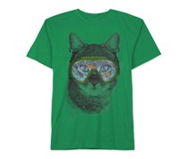 Jem Boys Kitty Fisherman Graphic T-Shirt, Kelly
