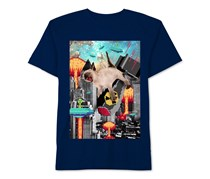 Boys' Graphic-Print T-Shirt, Navy