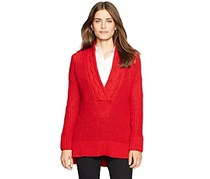 Lauren Ralph Lauren Long-sleeve V-neck Sweater, Red