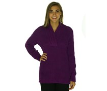 Women's Long-Sleeve V-Neck Sweater,Purple