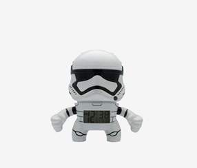 Star Wars Stormtrooper Kids Light Up Alarm Clock, White
