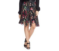 Ralph Lauren Women's Plus Size Floral-Print Skirt, Black
